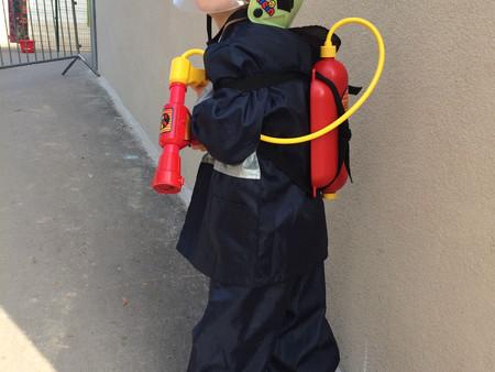 Un pompier à l'école...