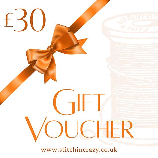Stitchin Crazy Voucher £30