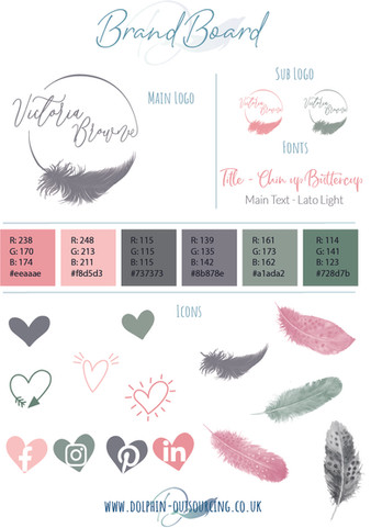 BRAND BOARD feathers
