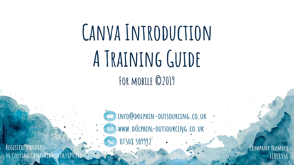 Canva training (for mobile)