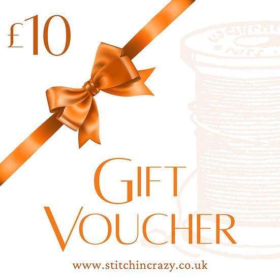 Stitchin Crazy Voucher £10