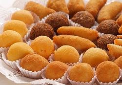 Salgados para festa fritos ou assados