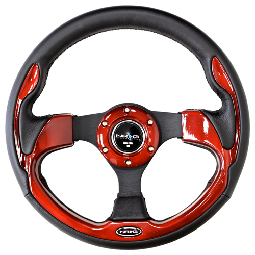 ST-001RD - 320mm Sport Leather Steering Wheel with Red Inserts.jpg