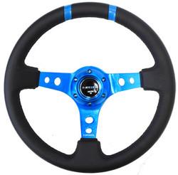 Limited Edition 350mm Sport Steering Wheel 3 Deep New Blue w blue double center markings.jpg