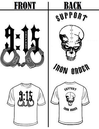 915 CUFFS MEN'S SUPPORT T-SHIRT