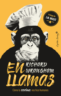 """Desde Darwin la evolución humana se ha atribuido a nuestra inteligencia y adaptabilidad. Pero en """"En llamas"""", el renombrado primatólogo Richard Wrangham presenta una alternativa sorprendente: nuestro éxito evolutivo es el resultado de la cocina. El cambio de alimentos crudos a alimentos cocidos fue el factor clave en la evolución humana. Una vez que se comenzó a cocinar, el tracto digestivo humano se contrajo y el cerebro creció. El tiempo, una vez dedicado a masticar alimentos crudos y duros, podría ser demandado para cazar y cuidar el campamento. La cocina se convirtió en la base para la unión de pareja y el matrimonio, creó el hogar e incluso condujo a una división sexual del trabajo. En resumen, una vez que nuestros antepasados se adaptaron al uso del fuego, la humanidad comenzó."""