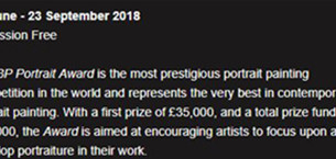 BP Portrait Award 2018