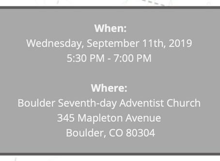 Neighborhood Meeting 9.11.19