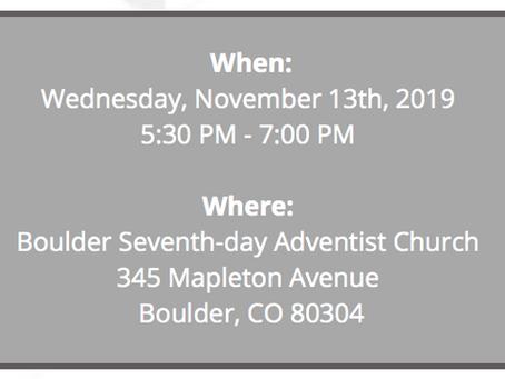 Neighborhood Meeting 11.13.19