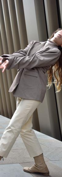 Photography: Hagai Bar Alon Styling: Ofri Kaufman Hair & makeup: Illy Cohen Blazer: Castro Turtleneck: Etam Trousers: Banana Republic