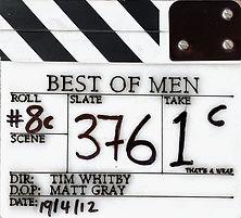 BEST OF MEN 2012 Clapper Board