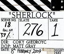 SHERLOCK Pilot 2009 Clapper Board