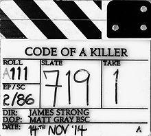 CODE OF A KILLER 2014 Clapper Board