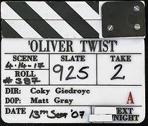 OLIVER TWIST 2007 CLAPPER BOARD