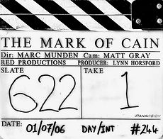 MARK OF CAIN 2006 clapper board