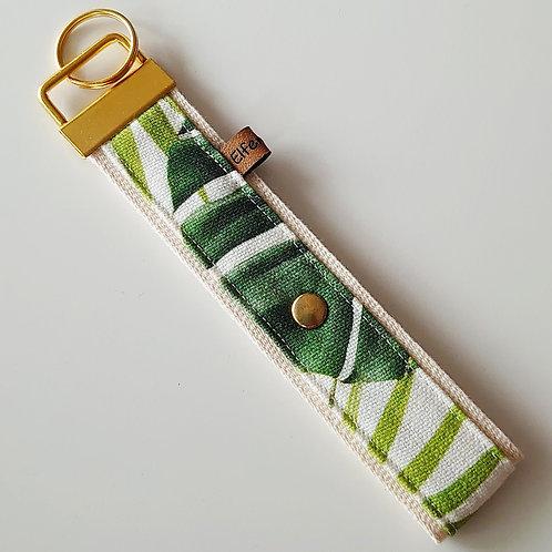 Schlüsselband tropical  / Blätter  / gold
