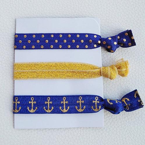 Bänder-Set blau  / gold
