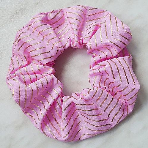 scrunchie rosa mit goldprint