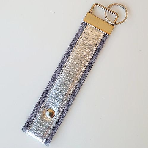 Schlüsselband grau  / silber