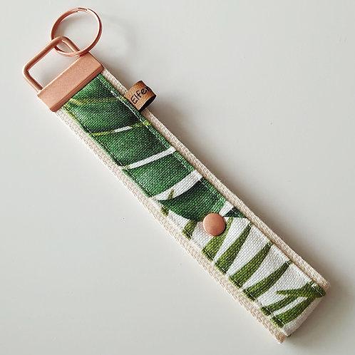 Schlüsselband tropical  / Blätter / rosegold