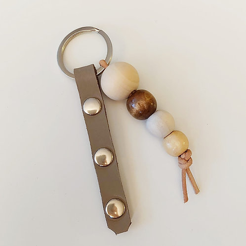 Schlüsselanhänger beige