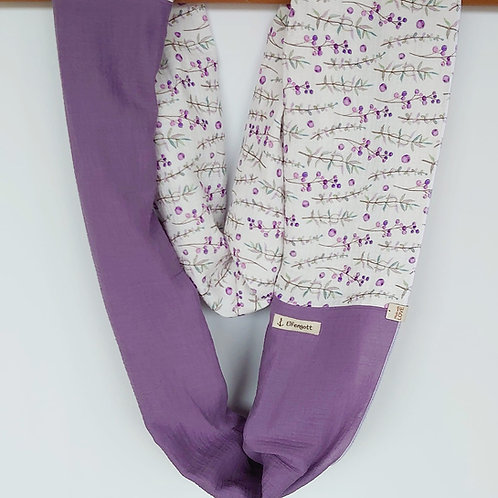 Loop aus Musselin weiss / violett