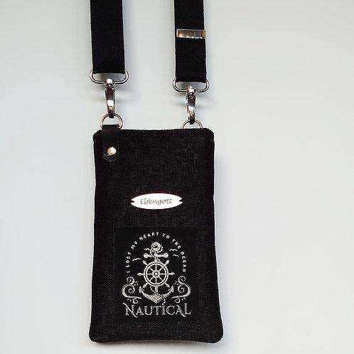"""Handy-Tasche schwarz  """"Nautical"""""""