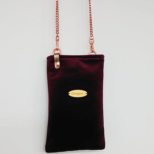Handy-Täschchen brombeer dunkel / rosegold