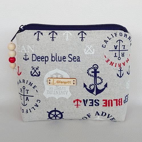 """Kosmetik-Täschchen maritim """"deep blue sea"""""""
