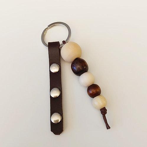 Schlüsselanhänger dunkelbraun