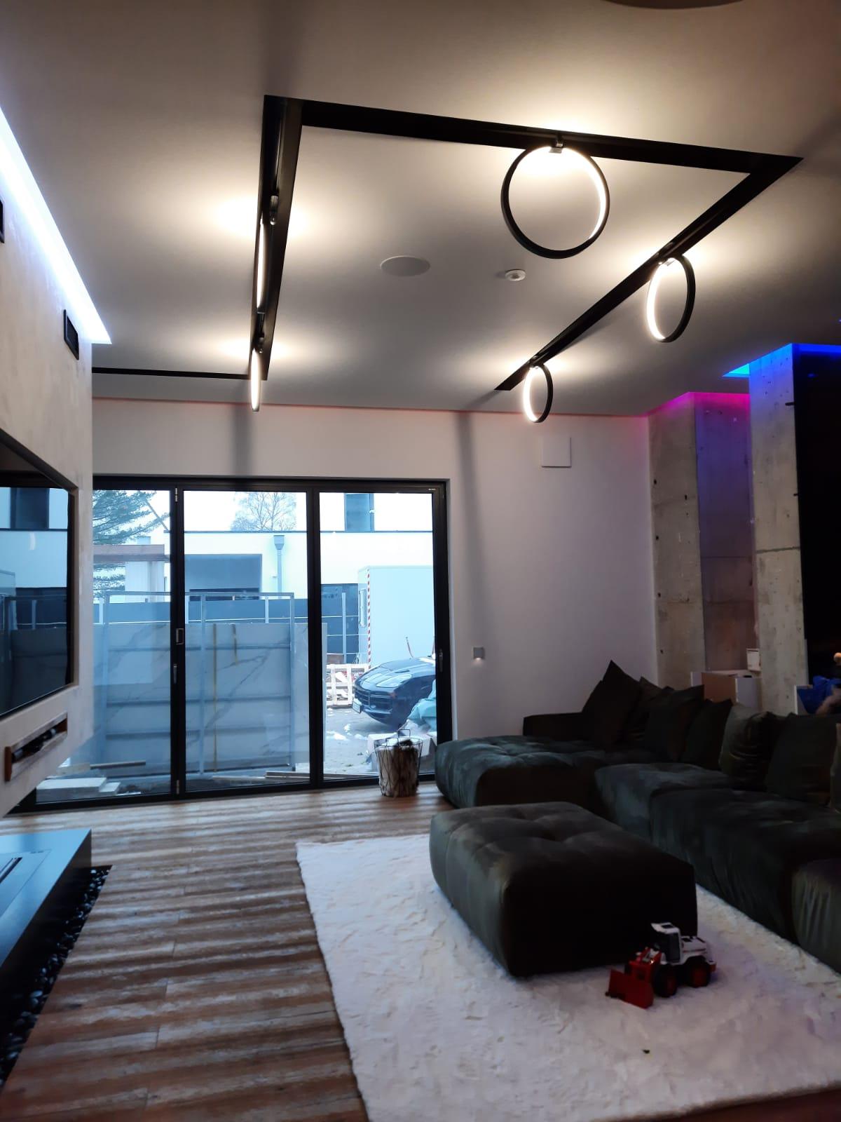 Smarte Villa Wohnzimmer