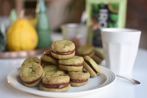 Vegan Matcha Macarons