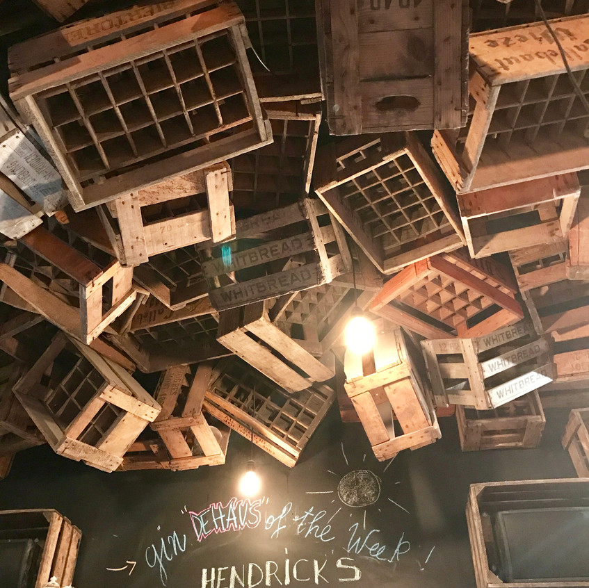 The boxes on the ceiling!