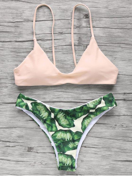 Lightpink palmtrees bikini