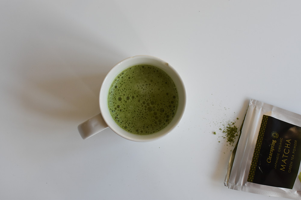 Frech Home made Matcha Latte