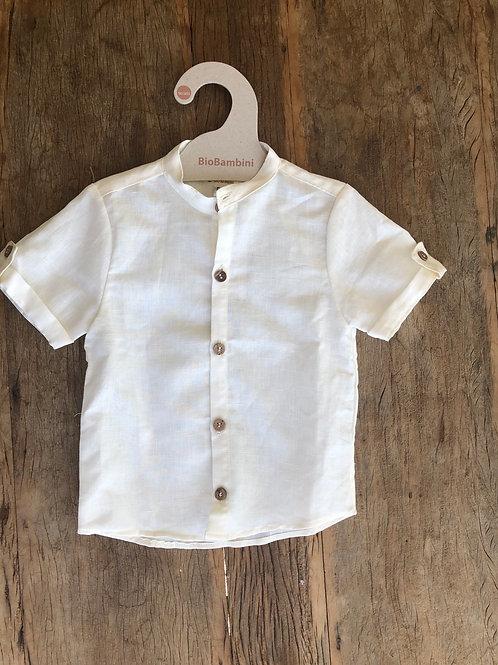 Camisa em linho manga curta