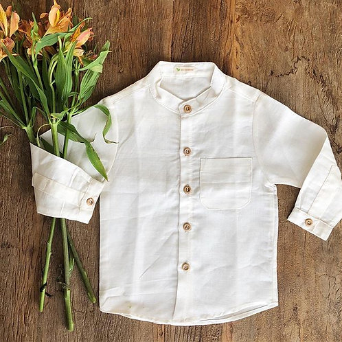camisa linho menino