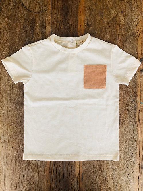 Camiseta orgânica com bolso