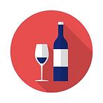icône vin et verre rouge