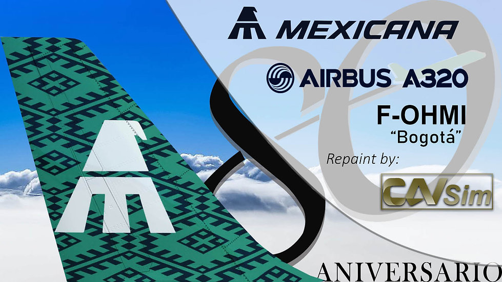 Airbus A320-231 Mexicana '80 Anniversary Livery' 'F-OHMI'