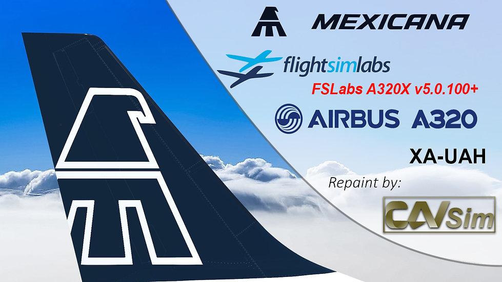 A320-231 (WT) Mexicana 'Blue Livery' 'XA-UAH' CN: 447