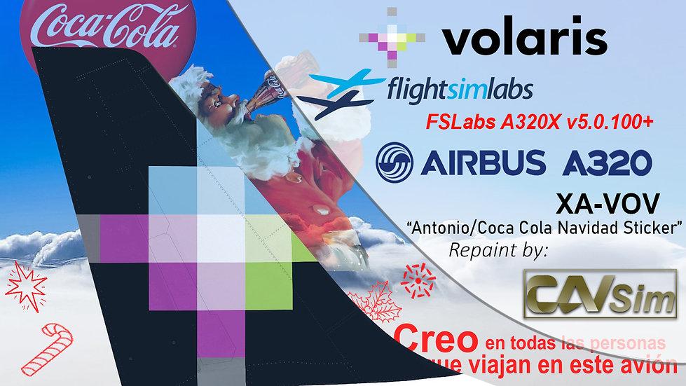 A320-233 (WT) Volaris 'Coca Cola Navidad' 'XA-VOV' CN: 3524