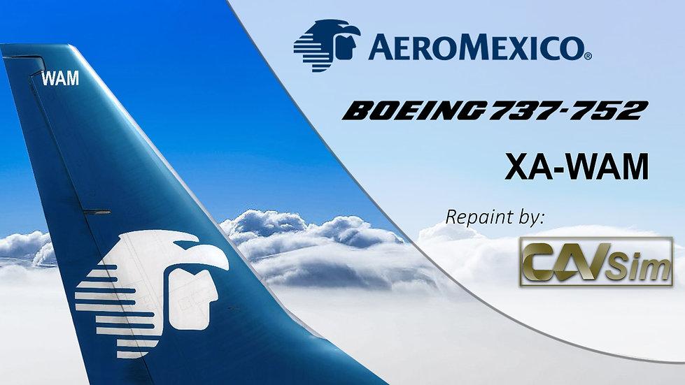 Boeing 737-752(WL) Aeromexico 'Chrome Livery'  'XA-WAM'