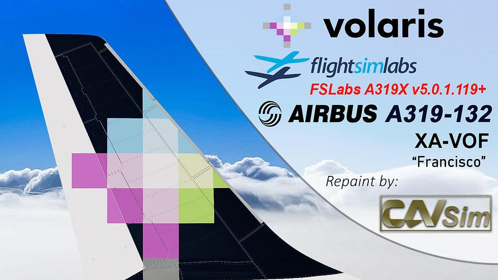 A319-133 (WT) Volaris 'Francisco' 'XA-VOF'