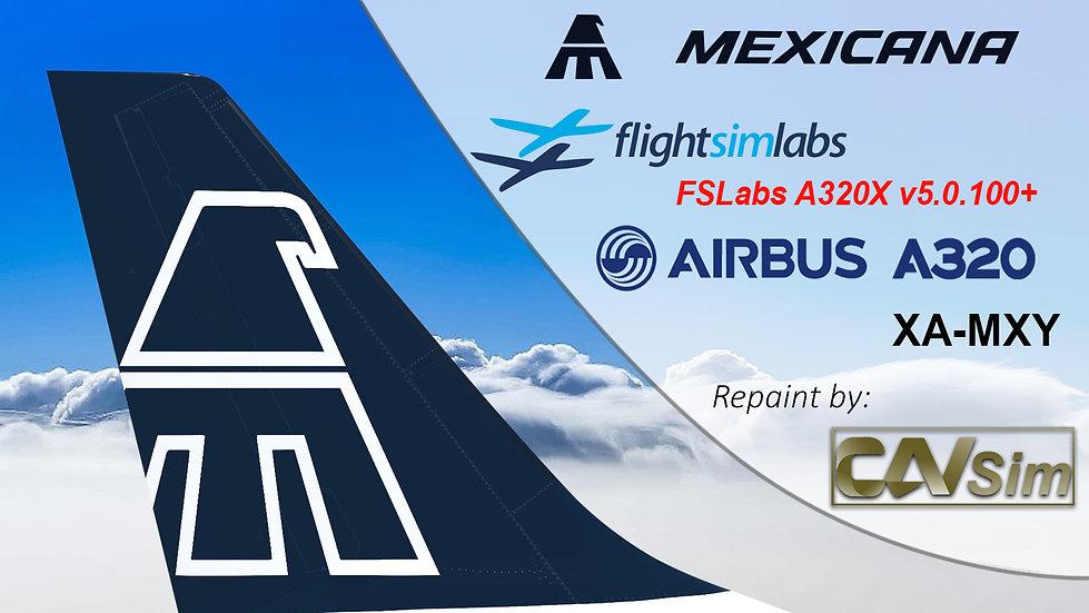 A320-231 (WT) Mexicana 'Blue Tail Livery' 'XA-MXY' CN: 321