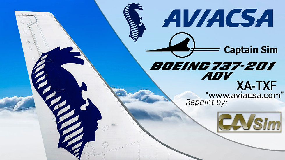 Boeing 737-201/ADV Consorcio Aviaxsa SA – AVIACSA 'aviacsa.com' 'XA-TXF'