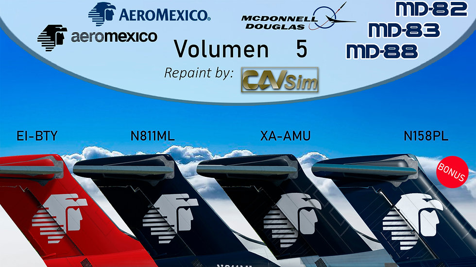 Pack No. 5 MDD MD-82/88 AeroMexico 'Transition - Last Liveries'