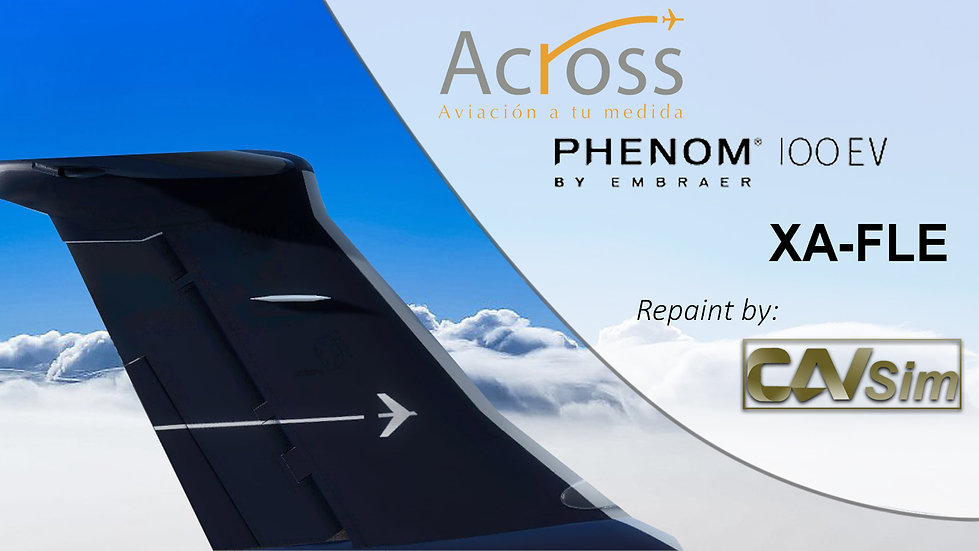 Embraer EMB500 Phenom 100 EV Servicios Aéreos Across 'XA-FLE'