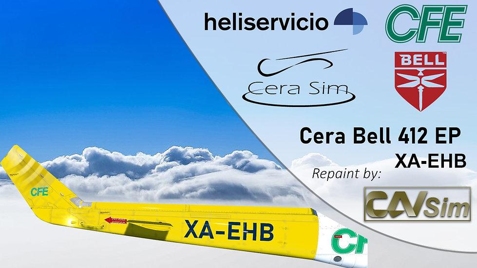 Bell 412 EP Heliservicio Campeche SA de CV 'Operated by CFE' 'XA-EHB'