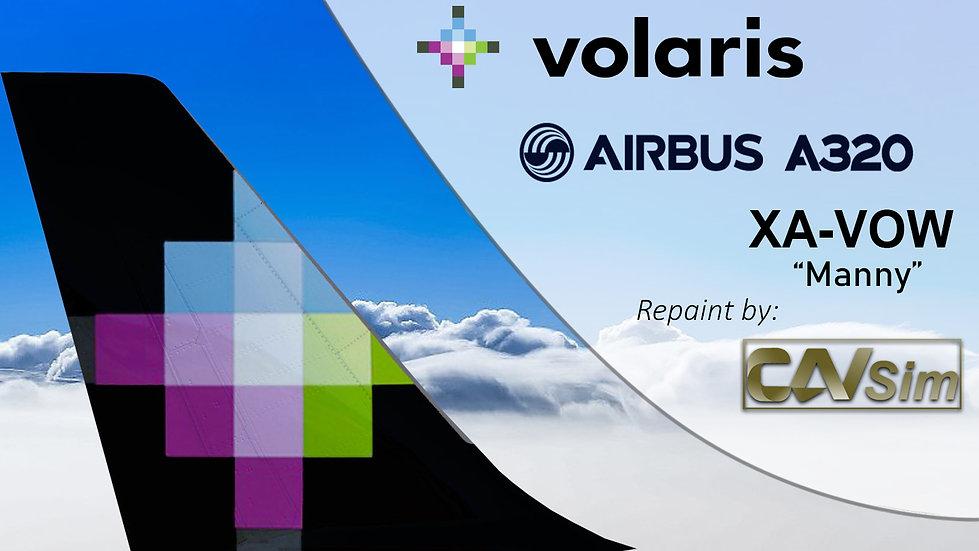 Airbus A320-232 Volaris 'Manny' 'XA-VOW'